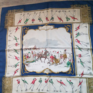 AUTHENTIC Hermes Silk Scarf -Les Plaisirs du Froid